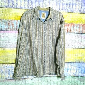Fat Face stripped button down shirt size XL